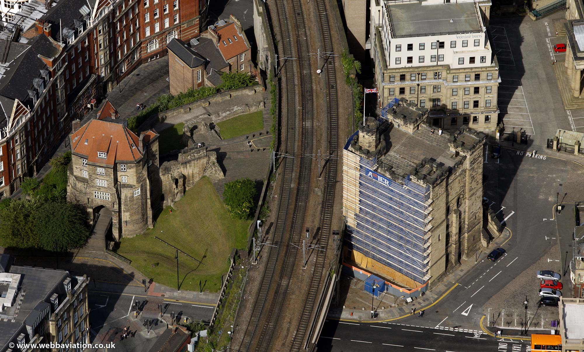 Newcastle upon Tyne Tyne and Wear aerial photograph