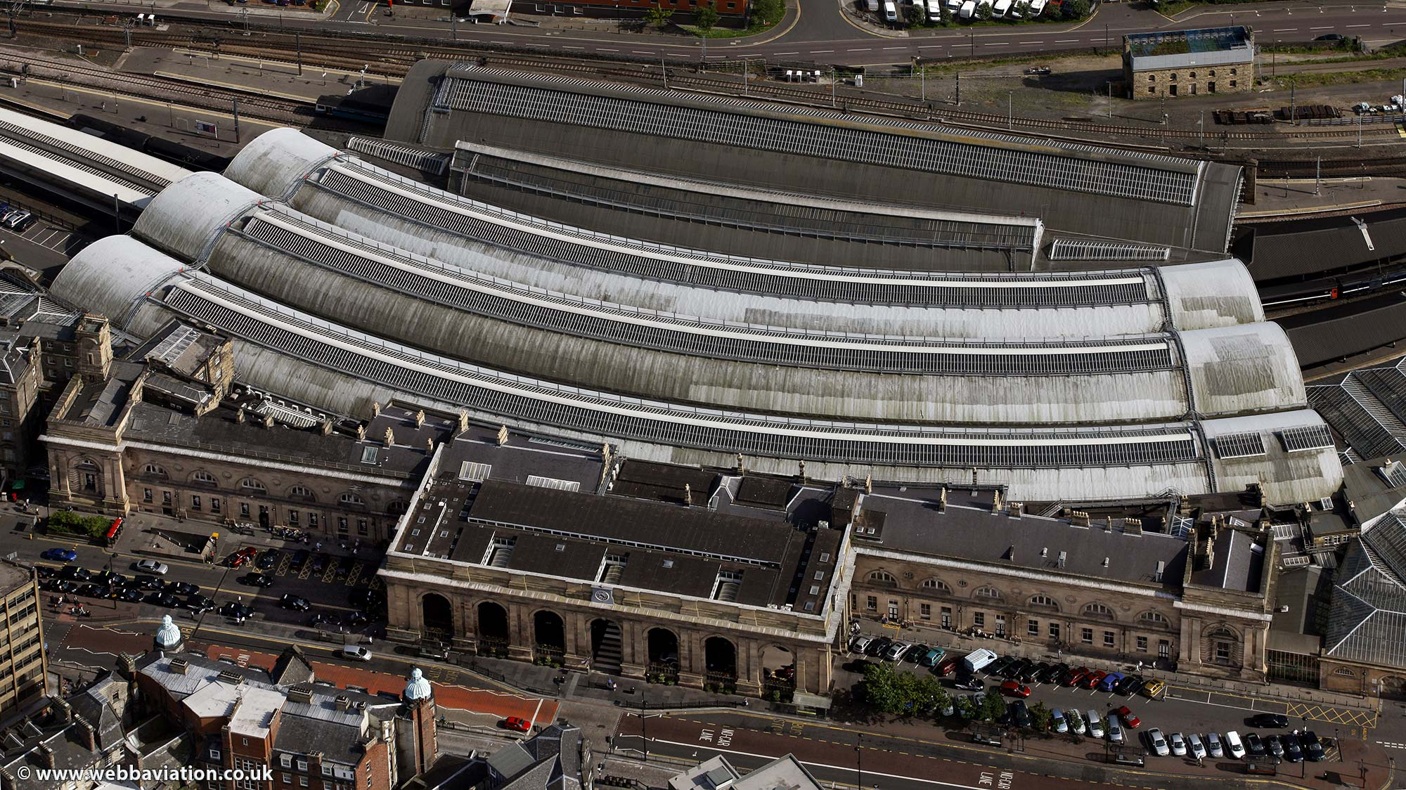 Newcastle Central Railway  Station  Newcastle upon TyneTyne and Wear aerial photograph