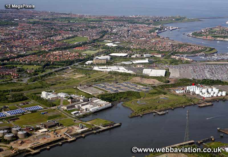 North Shields North Tyneside Tyne and Wear aerial photograph