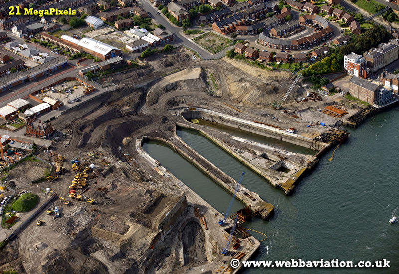 Smiths Docks North Shields North Tyneside Tyne and Wear aerial photograph