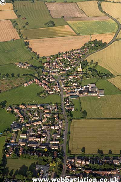 Lower Quinton Warwickshire  aerial photograph