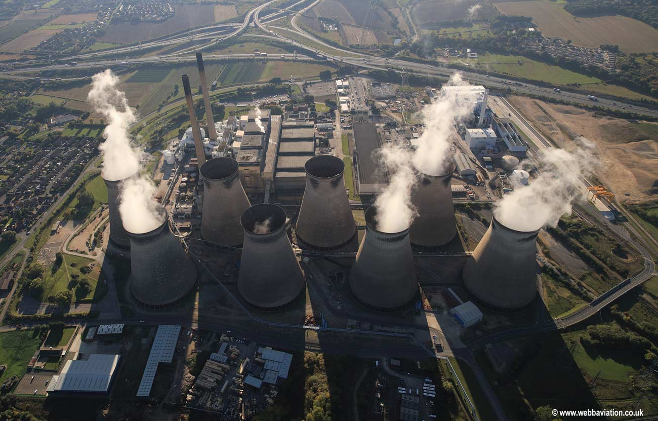 Ferrybridge power station aerial photograph