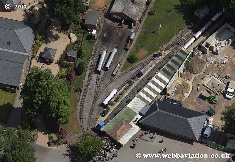 Miniature railway Longleat Park   at Longleat Safari and Adventure Park  aerial photo