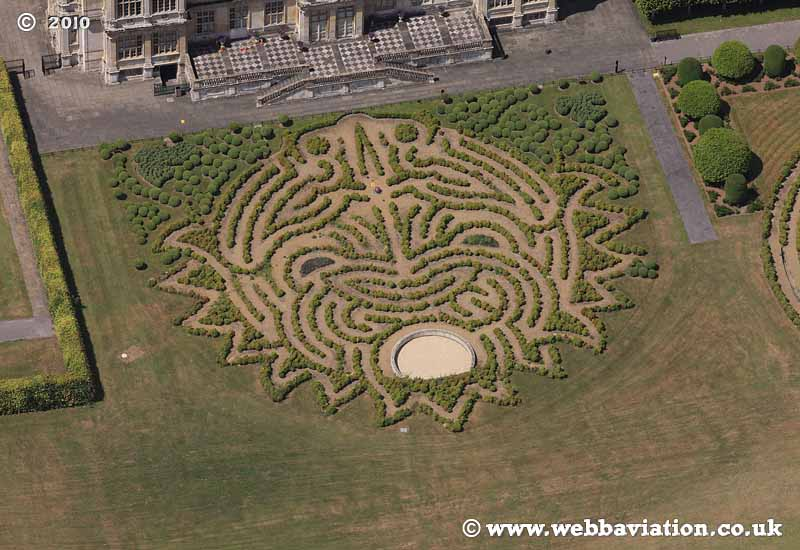 Longleat Safari and Adventure Park, in Wiltshire aerial photo