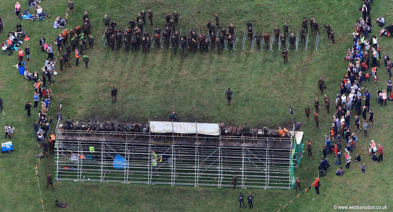 """Tough Mudder "" mud race  aerial photograph"