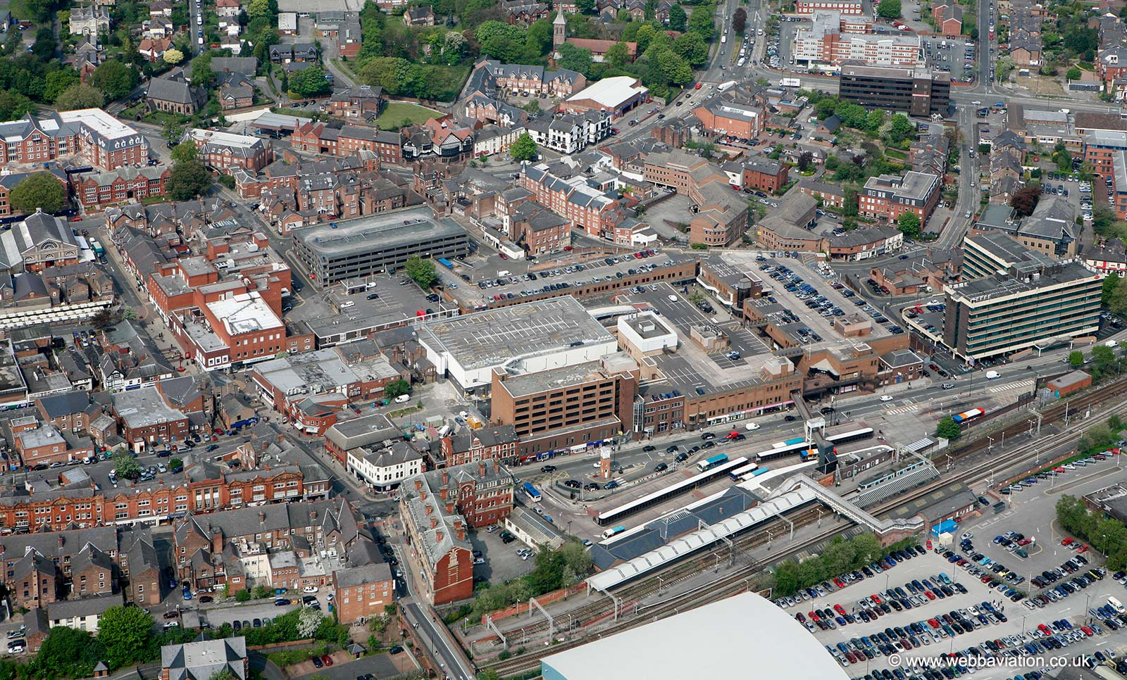 Altrincham Cheshire, from the air