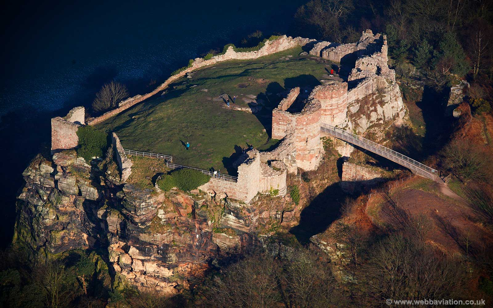 Beeston Castle Cheshire  aerial photograph