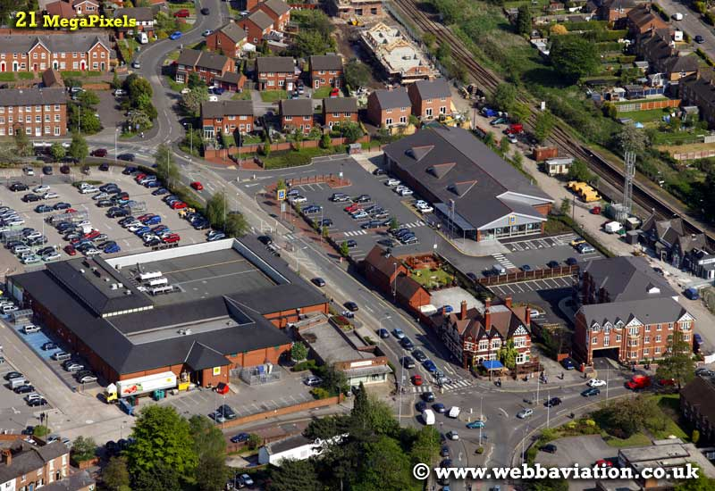 Nantwich Cheshire aerial photograph