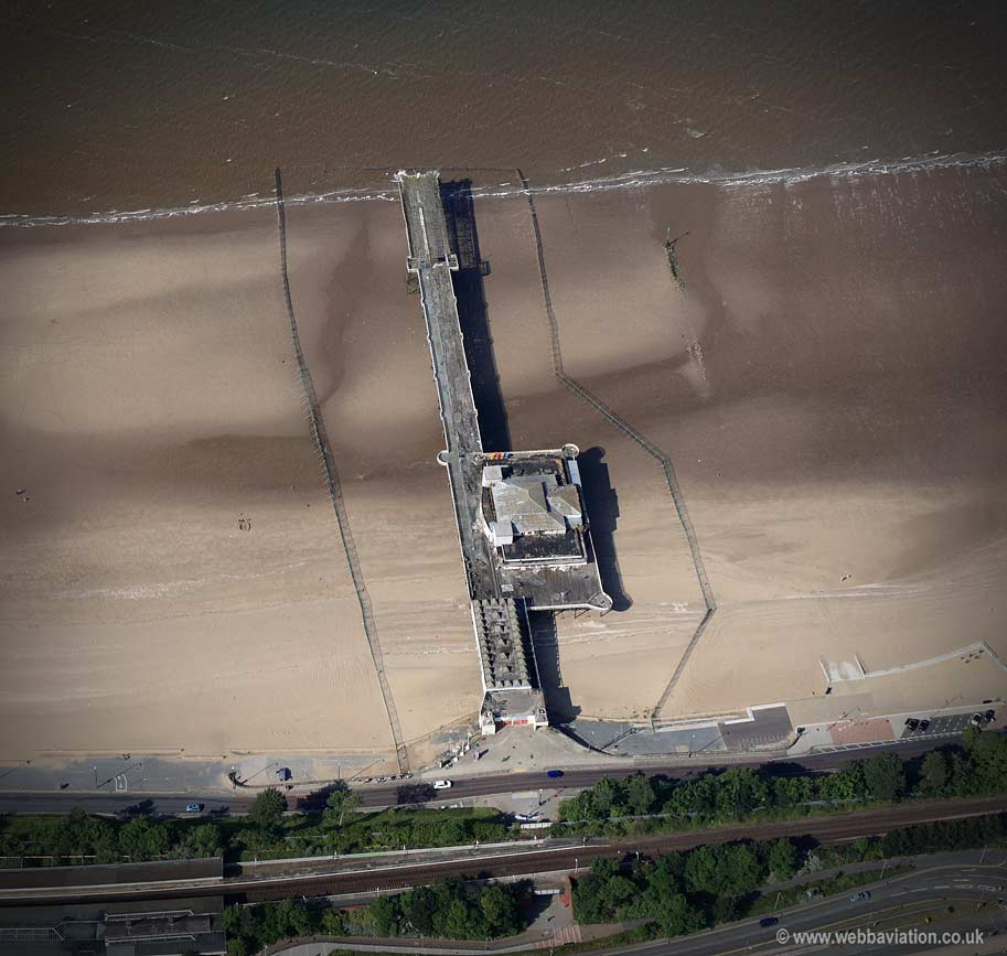Victoria Pier Colwyn Bay  North Wales  aerial photograph