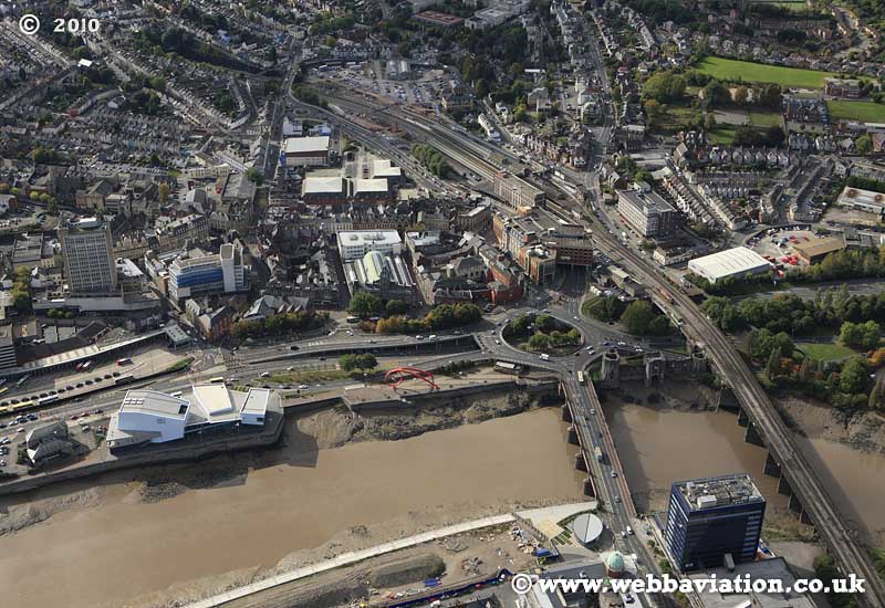 Newport South Wales aerial photograph