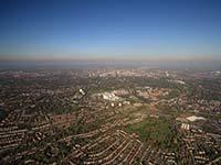 aerial photographs of Edgbaston Birmingham                       West Midlands England UK