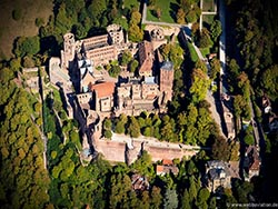 Heidelberger Schloss aerial photo