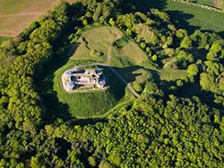 aerial photograph of stafford castle uk