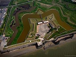 Tilbury fort aerial photo