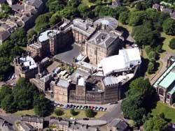 aerial photo of lancaster castle