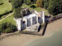 aerial photograph of Upnor Castle