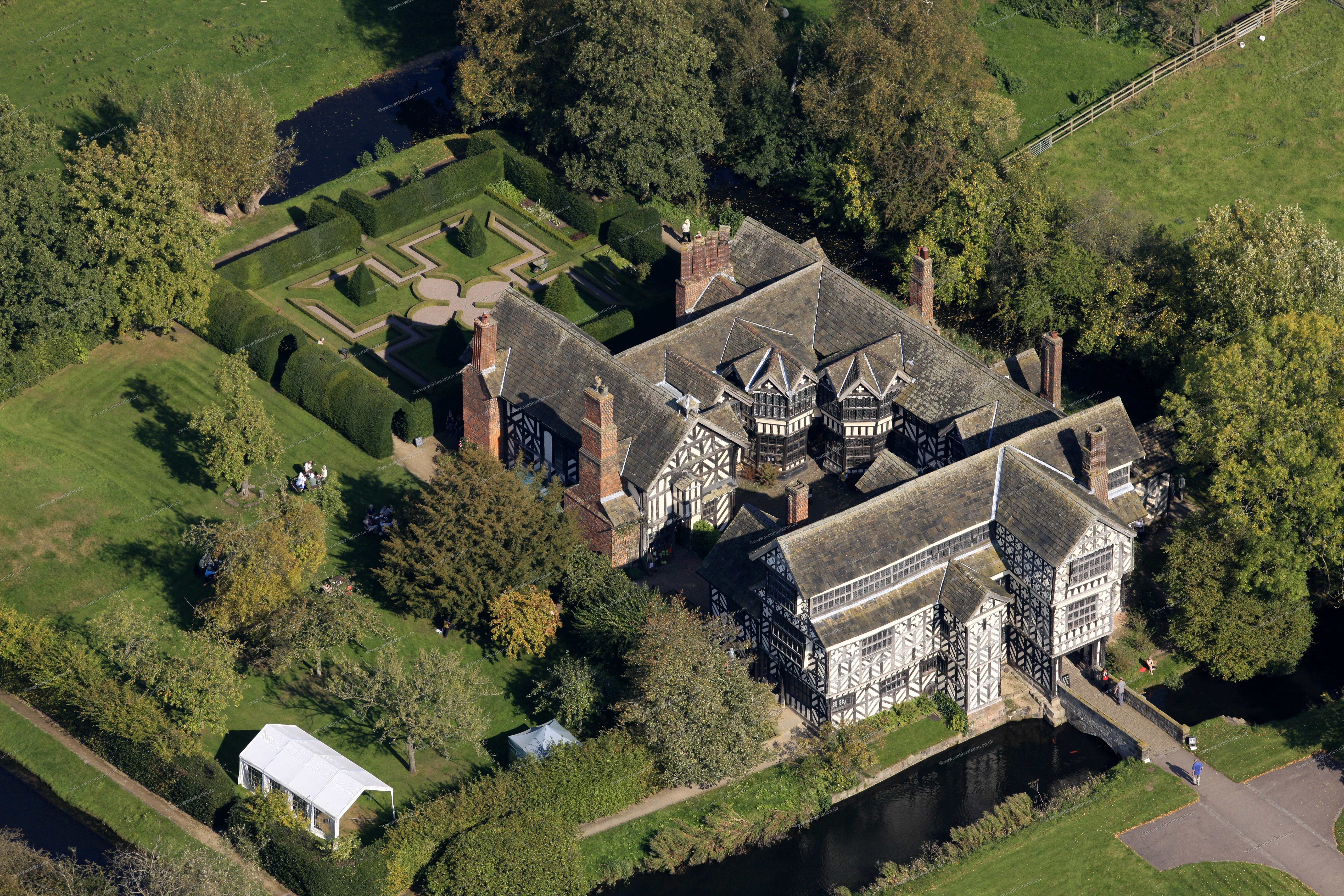 Aerial Photographs Of Little Moreton Hall A Tudor Manor House In Cheshire