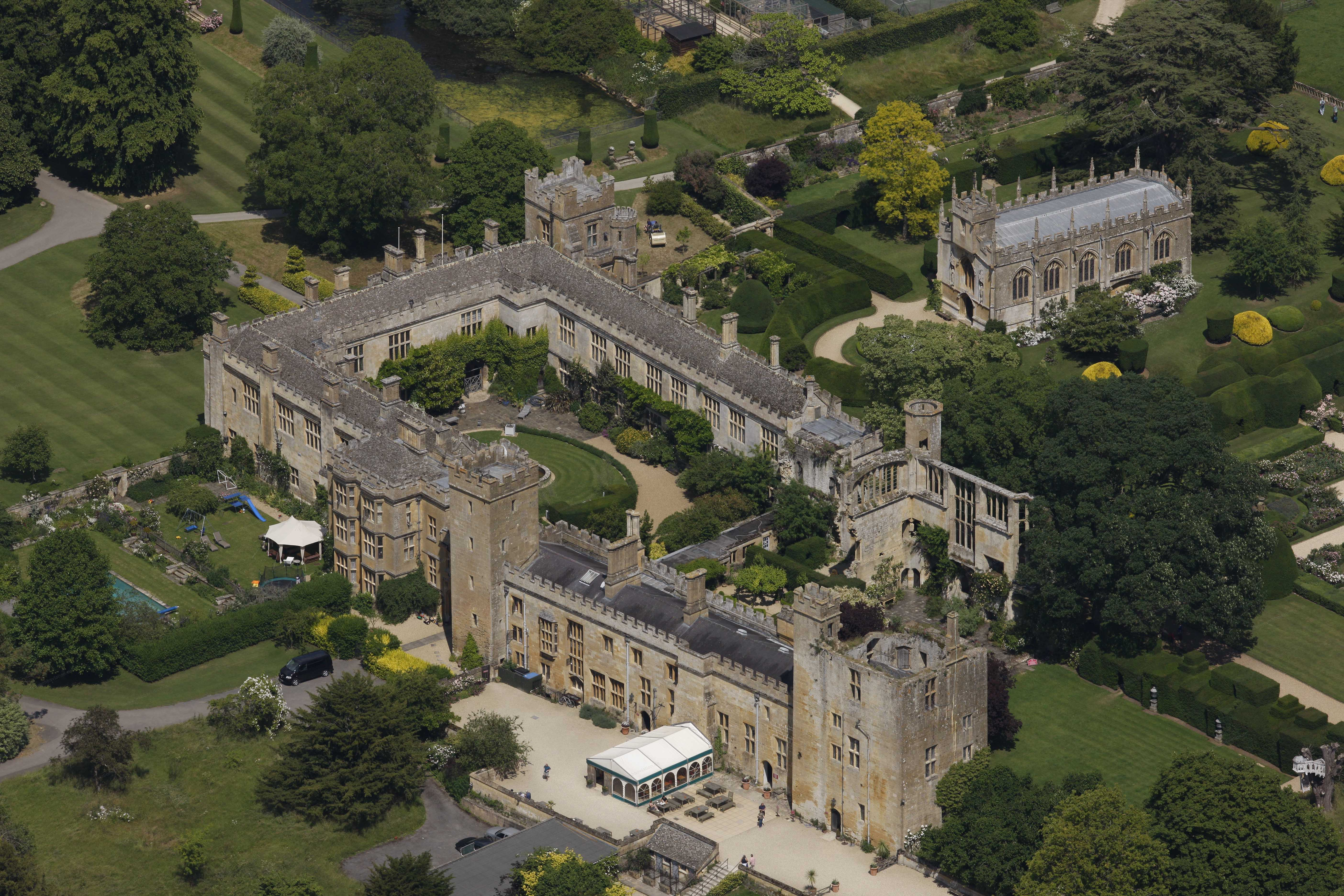 Aerial Photographs Of Sudeley Castle Gloucestershire England