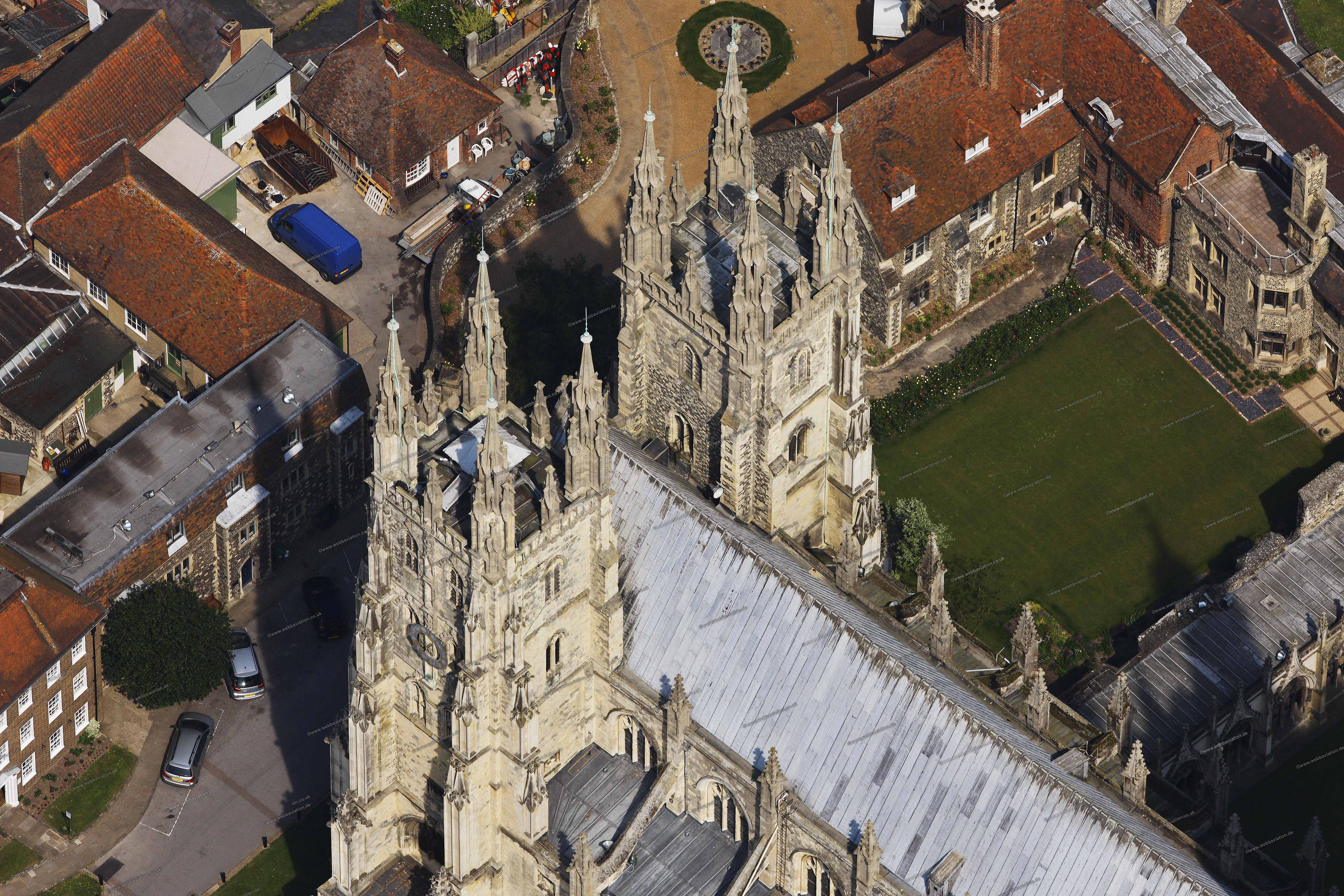 Canterbury Cathedral Aerial Photograph Cb08290pcjpg