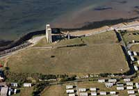 aerial photographs of Reculver Roman Fort