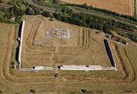 aerial photographs of Richborough Roman Fort