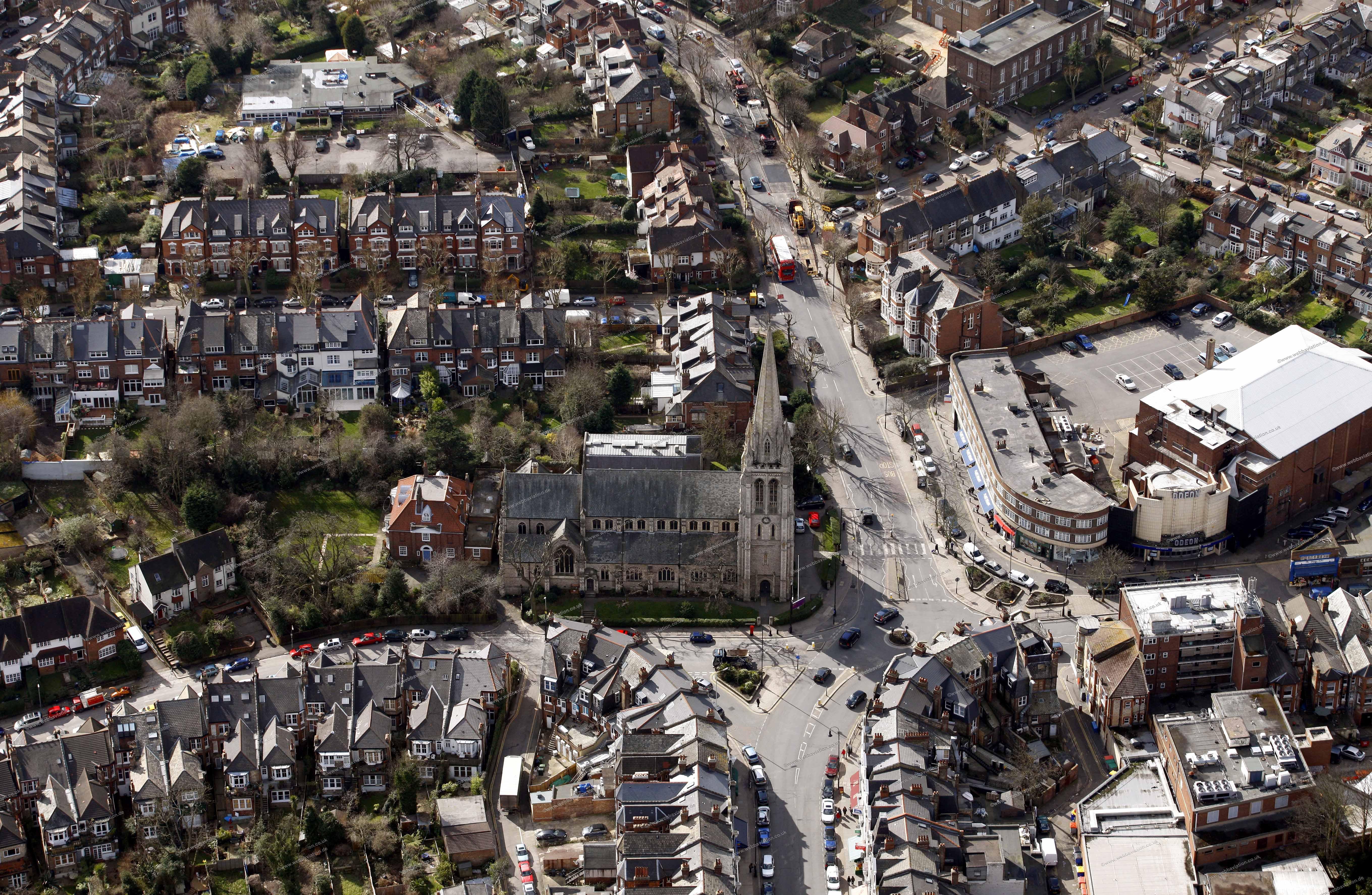 Muswell Hill aerial photograph db10917 jpg