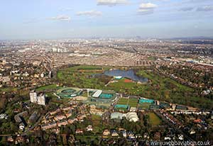 Wimbledon London aerial photograph