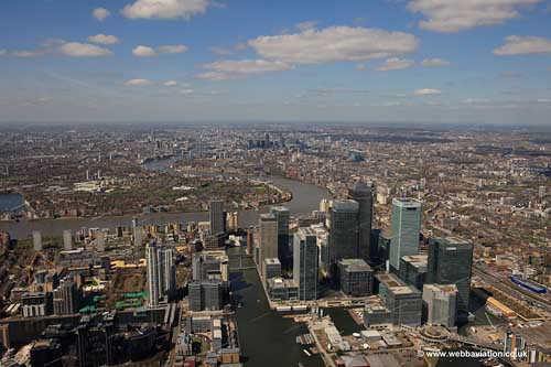 aerial photograph of London England